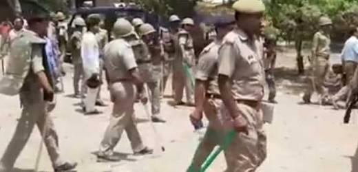 घघरौली में ग्रामीणों के साथ पुलिस का गोरिल्ला युद्ध