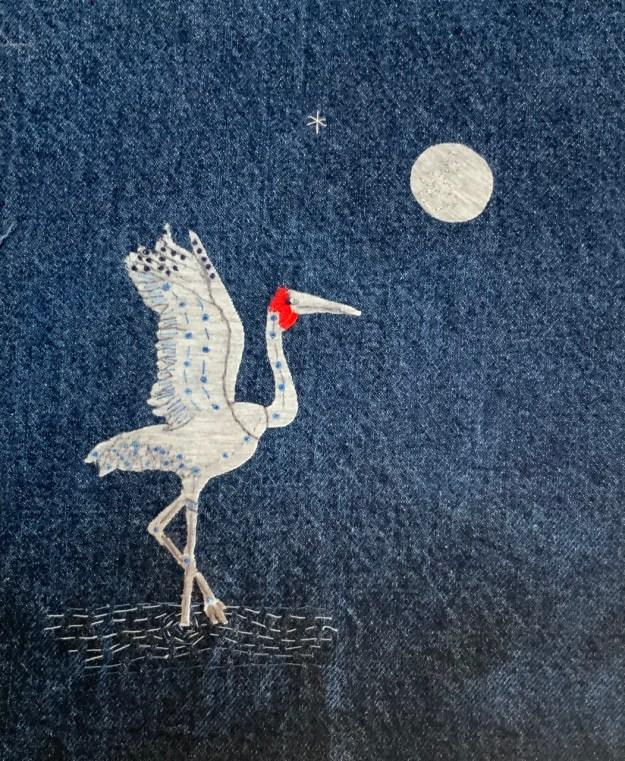 Broome Brolga Dancing In The Moonlight