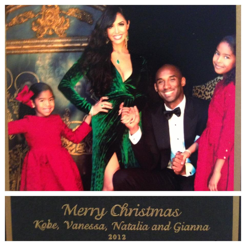 Happy Holidays Card From Kobe Bryant And The Fam Kobes
