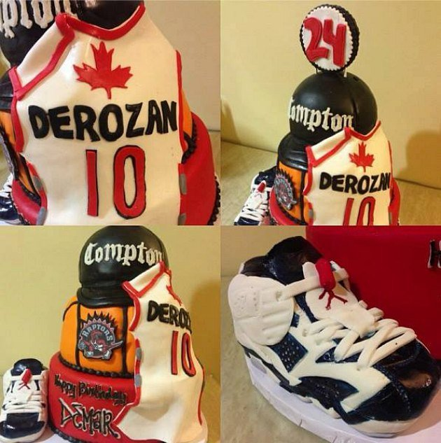 Demar Derozan S Awesome Compton Jordans Birthday Cake