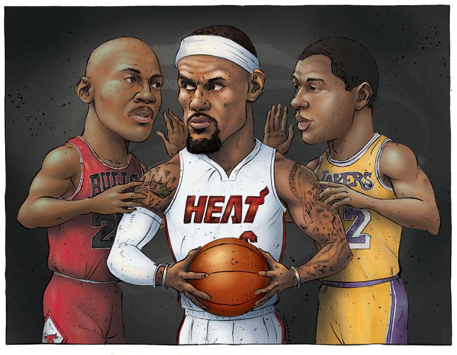 Lebron James Cartoon Pictures Heat