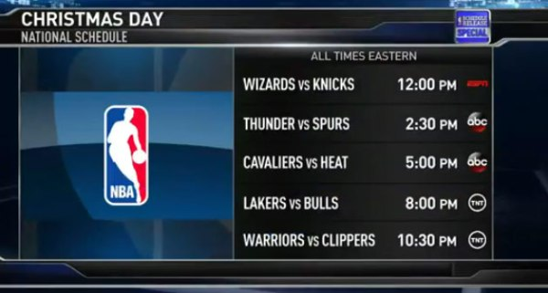 2014/15 NBA Schedule Highlights (opening day + Christmas ...