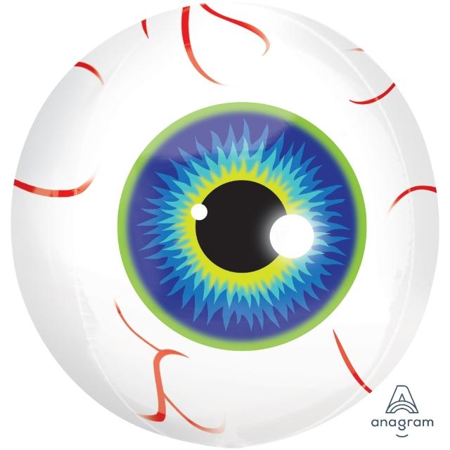 Helium Ballon Oogbal bol 40 CM, oog ballon, ballon van een oog, ballon liefde, ballon voor als je een oogje op iemand hebt, ballon voor als je een oogje op iemand moet houden, ogenballon, oogbal ballon, heliumballon oog