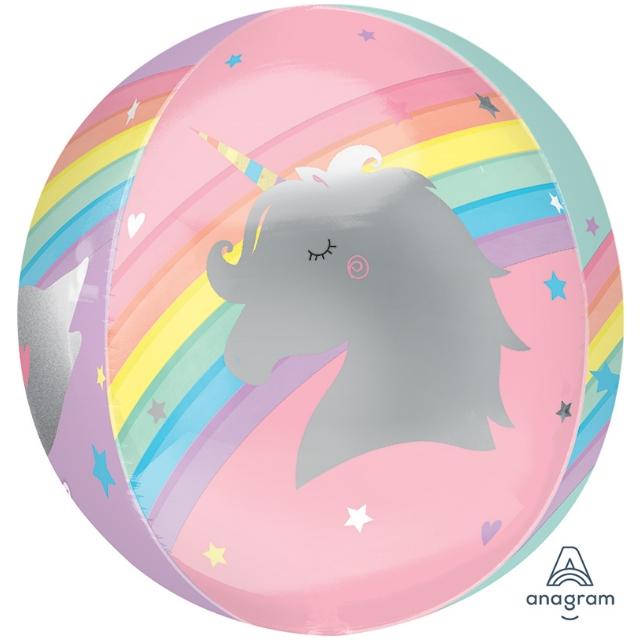 Helium Ballon Regenboog Bol 40 CM, regenboog ballon, ballon regenboog, magische ballon, ballon met eenhoorn, ballon met zwaan