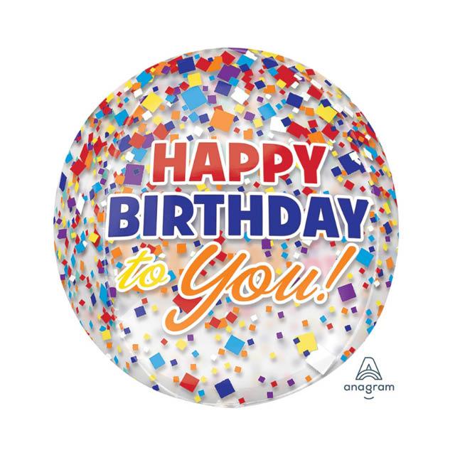 Helium Ballon Verjaardag Bol 40 CM, verjaardagballon, ballon voor verjaardag, verjaardag voor ballon
