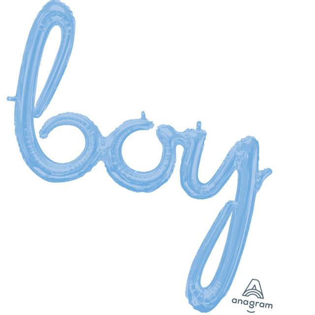 Ballon Letters Boy 76 CM, ballon letters, geboorteballon, ballonletters