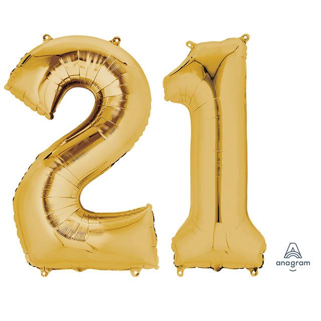 Helium Ballonnen Cijfers Goud 90 CM