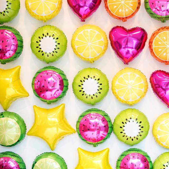 Helium Ballon Vers Fruit 45 CM, fruitballon, fruitballonnen, kiwi ballon, ballon van een kiwi, verse fruit ballonnen, ballon van een citroen, citroenballon, ballon van een sinaasappel, sinaasappelballon, ballon van een watermeloen, watermeloen ballon, ballon van een lime, lime ballon