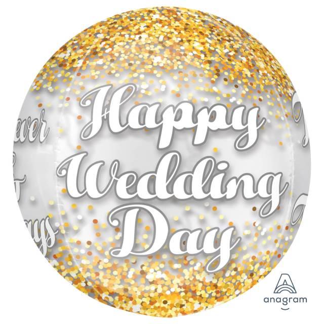 Helium Ballon Trouwdag bol 40 CM , ballon versturen, ballon per post, trouwdag, trouw ballon, wedding, helium ballon