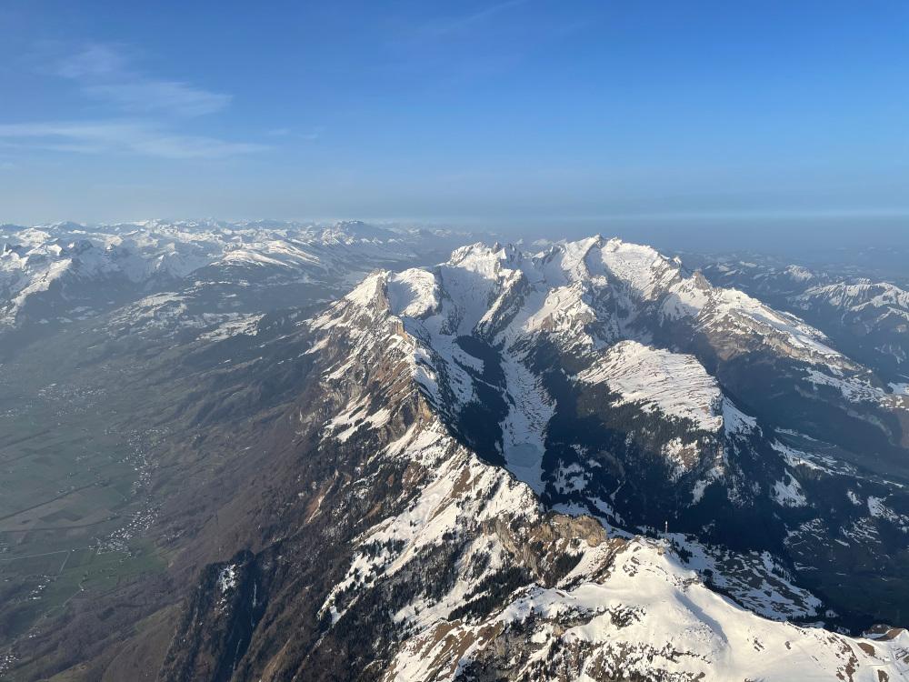 Alpstein vom Rheintal aus gesehen