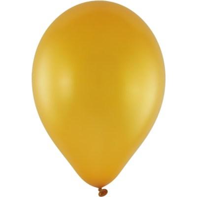 Latexballon 28cm metallic 39 gold