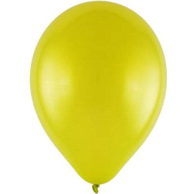 Latexballon 28cm metallic 67 hellgruen