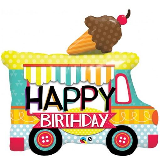 Happy Birthday Eiswagen 91cm