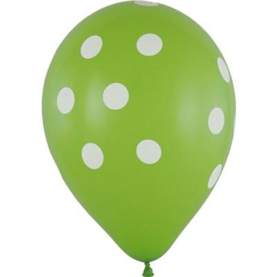 Latexballon 28cm Punkte gruen 1