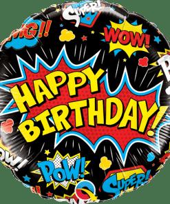 Happy Birthday Comic Folienballon 45 cm