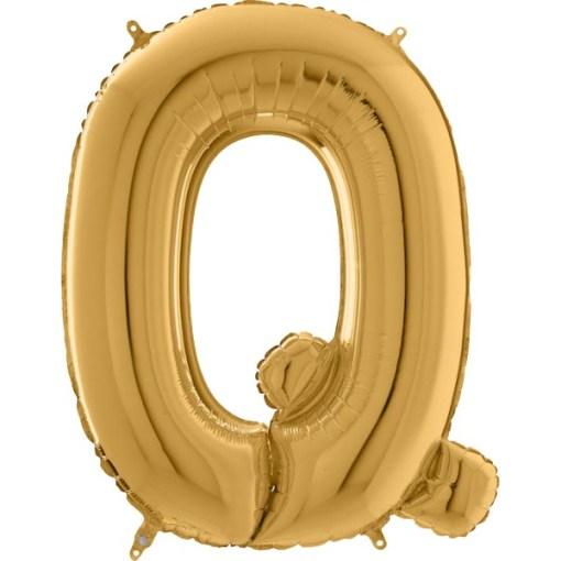 Folienballon Buchstabe gold 102 cm hoch Q