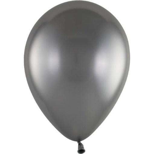 Latexballon 28cm Chrome 270 silber