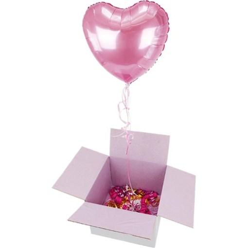 BALLONI Überraschungspaket mit Herzballon