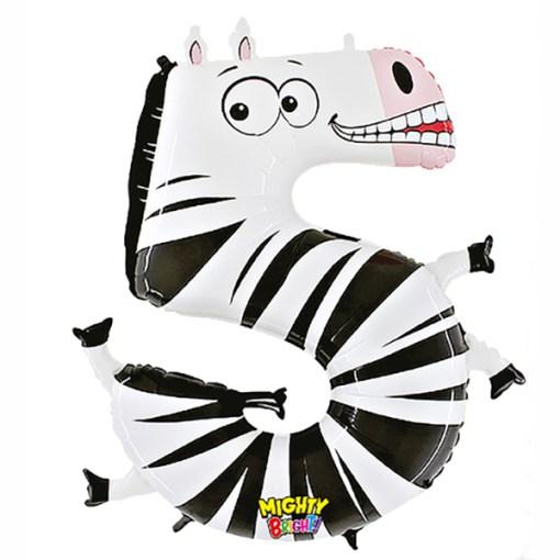 5 Kinderzahl Zebra