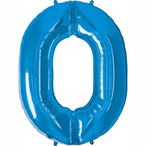 Folie Zahl 0 blau