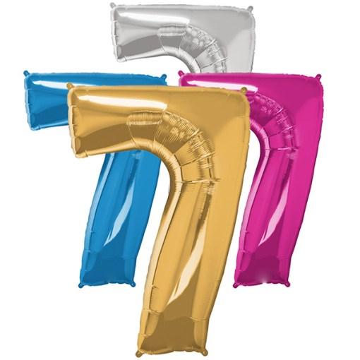 Folie Zahl 7 diverse Farben