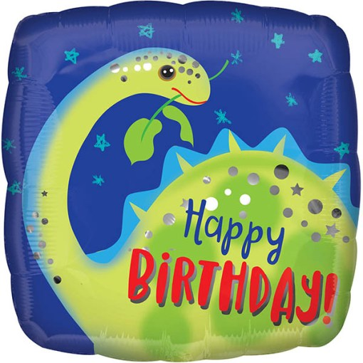 Happy Birthday Dino Folienballon 45cm