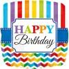 Happy Birthday quadratisch