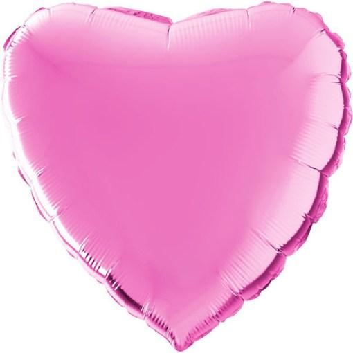 Herz Folienballon 56cm Metallic Pink