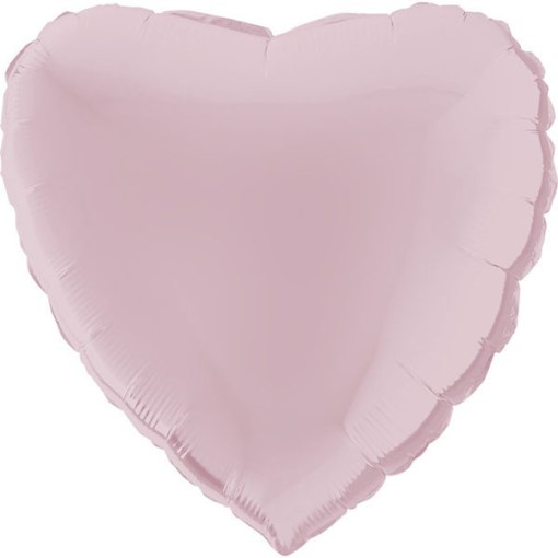 Schoener rosafarbener Folienballon in Herzform.