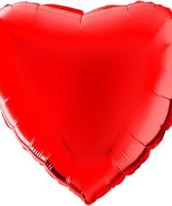 Wunderschoener roter Folienballon in Herzform.