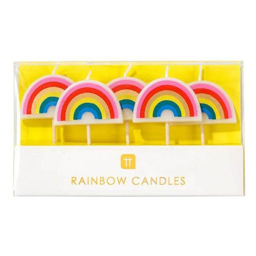 Geburtstagskerze Regenbogen Box