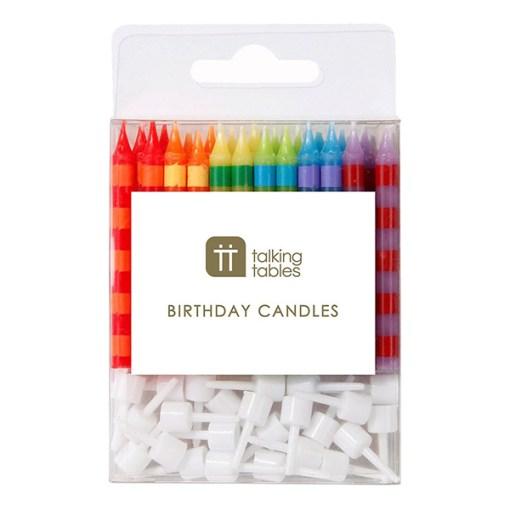 Geburtstagskerzen bunt in der Packung