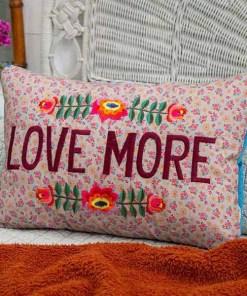 Kissen Flowery Love More Baumwolle 45,7 x 31,8 x 11,4 cm