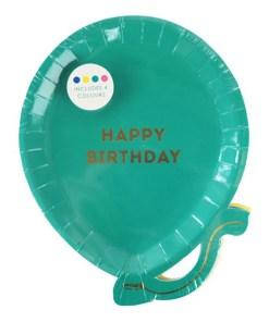 Pappteller Ballon Form 17,5x22cm