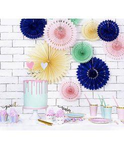 Partyfächer, light cream, 20cm,30cm,40cm, 1Pckng 3 Stck, Dekobeispiel 02