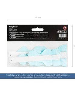 Dekofächer mit Lochmuster, light sky-blue, 3er Pack, versch. Größen