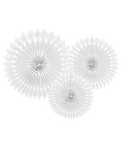 Dekofächer mit Lochmuster, white, 3er Pack, versch. Größen