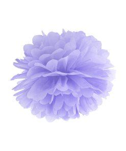 Pompom, Seidenpapier, light lilac, 25cm