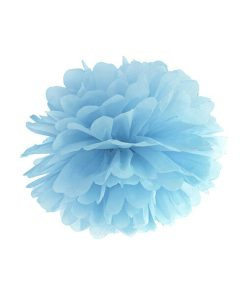 Pompom, Seidenpapier, light misty-blue, 35cm