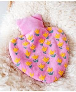 Wärmflasche Orient Tulip 100ProzentBaumwolle-Samt Kunststoff 25x18 cm Dekobeispiel