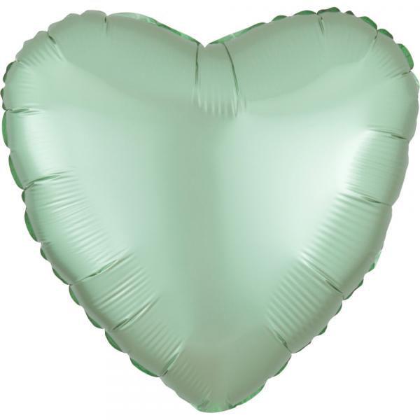 Herz Matt Mint Folienballon 45cm