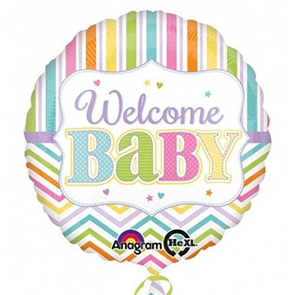 45cm Rund Welcome Baby