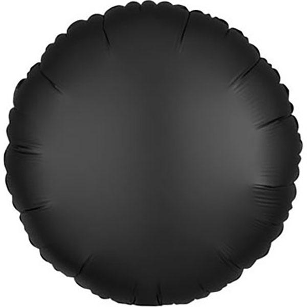 45cm Rund satin schwarz