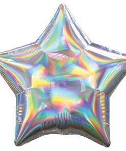 45cm Stern irisierend silber