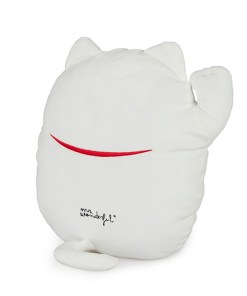 KISSEN MR.WONDERFUL LUCKY CAT 40x36cm Polyester Rückseite