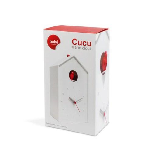 WECKER CUCU WEISS PLASTIK 22,8x13,1x8 cm ABS Plastik 1xAA&2xC ohne Batterien Verpackung