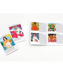 Feministinnen-Orakel, Lebenshilfe und Inspiration, 50Karten, 120x160x50mm Kartenbeispiel und Booklet