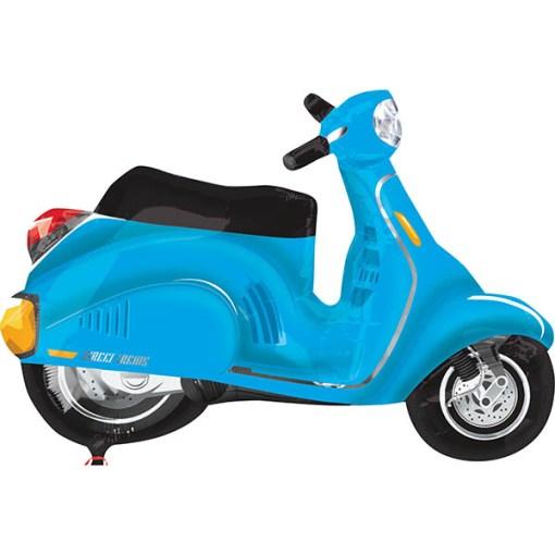 Roller, blau, Folienballon, 97 x 73 cm