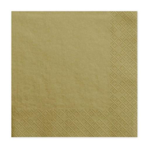 Servietten, gold, dreilagig, 20 Stk., 33 x 33 cm