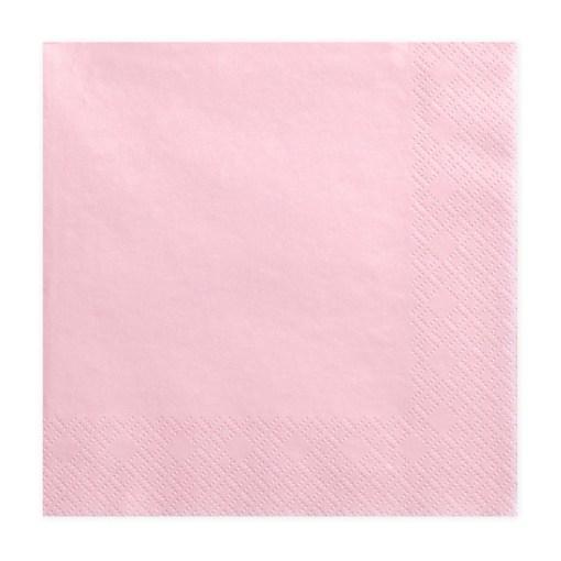 Servietten, rosa, dreilagig, 20 Stk., 33 x 33 cm